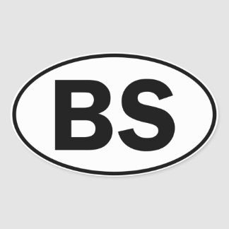 BS Oval ID Stickers