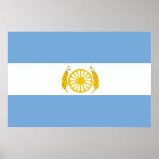 Bsa, Argentina flag Poster