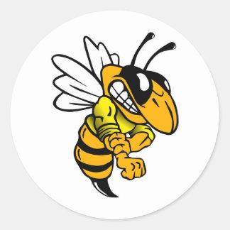 Bsaa Yellow Jackets Under 8 Classic Round Sticker