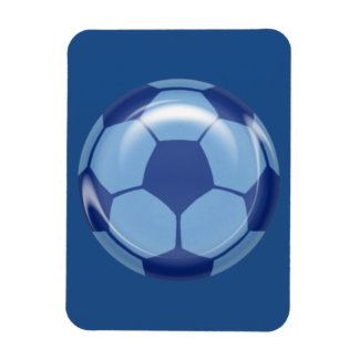 BSB BLUE SOCCER BALL SPORTS ATHLETES LEAGUE TEAM I RECTANGULAR PHOTO MAGNET