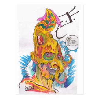 BSD Elemental Caricatures - Justin as Water Postcard