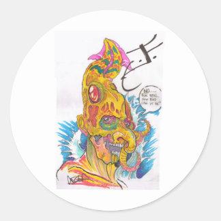 BSD Elemental Caricatures - Justin as Water Sticker