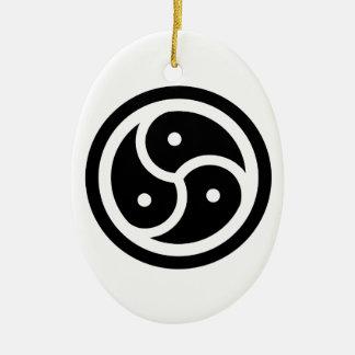 BSDM SYMBOL - kinky/bondage/switch/whips/leather Ceramic Ornament