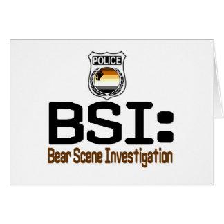 BSI:  Bear Scene Investigation Card