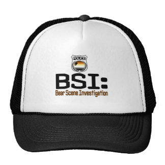 BSI:  Bear Scene Investigation Trucker Hat