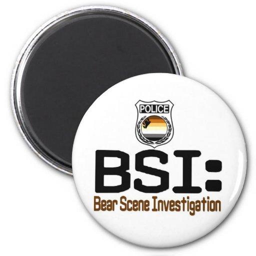 BSI:  Investigación de la escena del oso Imán Redondo 5 Cm