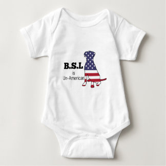 BSL is Un-American, Pitbull Support Baby Bodysuit