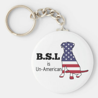 BSL is Un-American, Pitbull Support Basic Round Button Keychain