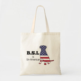 BSL is Un-American, Pitbull Support Tote Bag