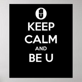 """@BSLADE - """"mantenga tranquilo y sea poster de U"""""""