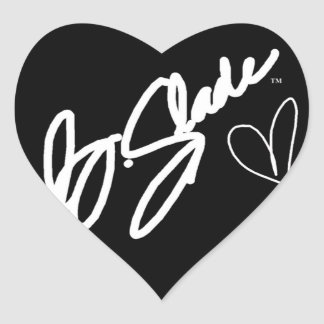 @BSLADE SIGNATURE SERIES HEART PROMO STICKERS