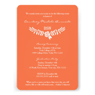 BSN graduation / RN LPN nurse pinning ceremony Card