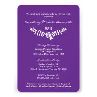 BSN graduation / RN LPN nurse pinning ceremony Card