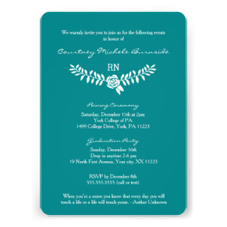 BSN graduation / RN RDH nurse pinning ceremony Card