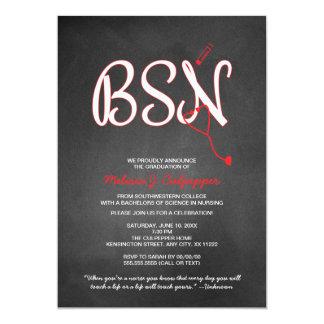 BSN nurse graduation pinning ceremony NO HAT Card