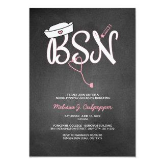 BSN nurse pinning ceremony graduation pink Card