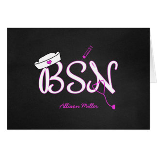 BSN personalized thank you cards, nurse graduation Card