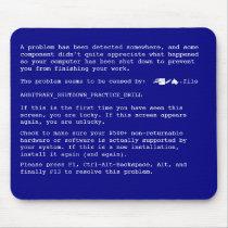 BSOD mousepad