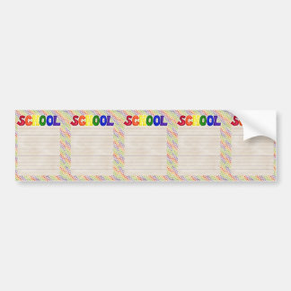 BSPDC CREAMSICLE ORANG RAINBOW BLUE YELLOW STRIPES BUMPER STICKER