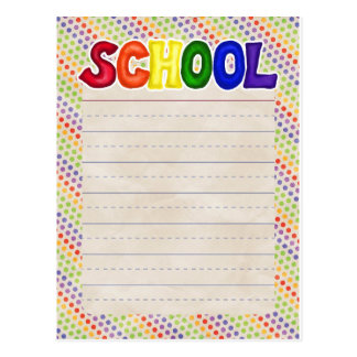 BSPDC CREAMSICLE ORANG RAINBOW BLUE YELLOW STRIPES POSTCARD
