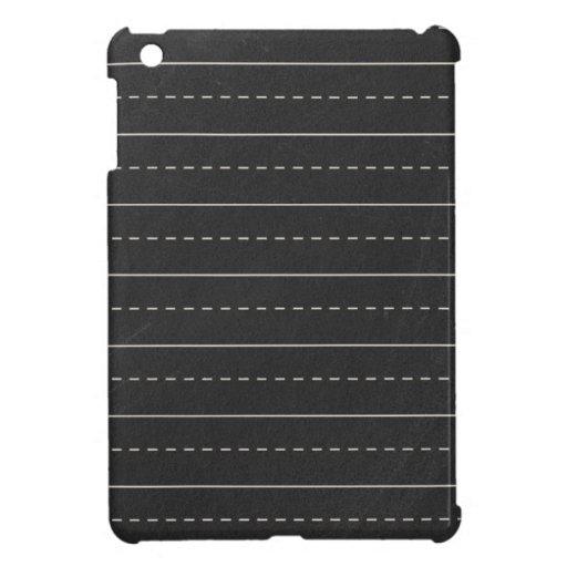 BSPP SCHOOL Education  RED BLACK WHITE LINES PAPER iPad Mini Cases