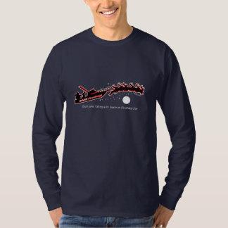 BT235 - Bah! Humbug! Dad's Gone Fishing with Santa T-Shirt