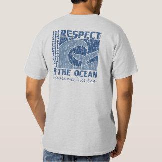 BT321 - Respete el océano, proteja la camiseta del Playera