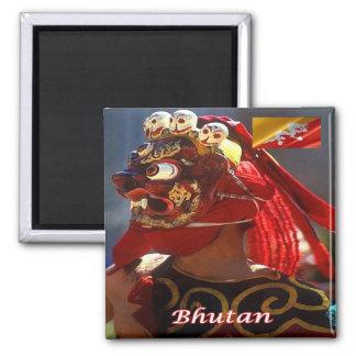 BT - Bhután - Bhután - danza enmascarada Imán Cuadrado