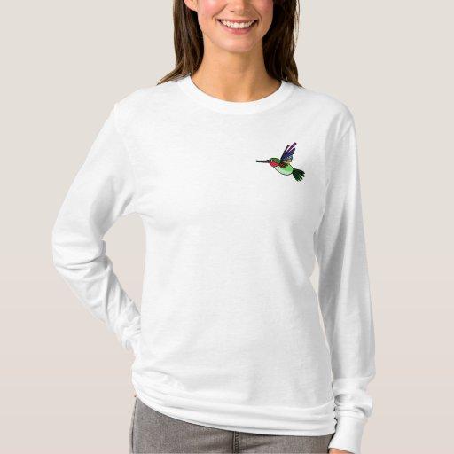 BT camisa colorida de Hummingbord