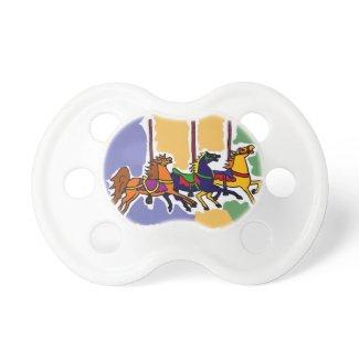 BT- Carousel Horse Art Baby Pacifier