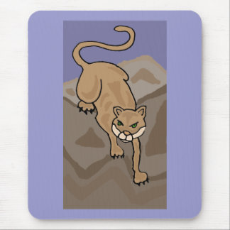 BT- Cougar Cat in the Mountains Art Mouse Pad