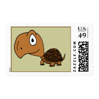 BT- Funny Box Turtle Postage Stamps