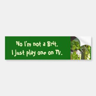 BT- Funny Gecko Insurance Bumper Sticker