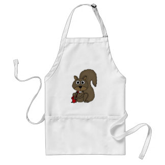 BT- Funny Squirrel Playing the Saxophone Adult Apron