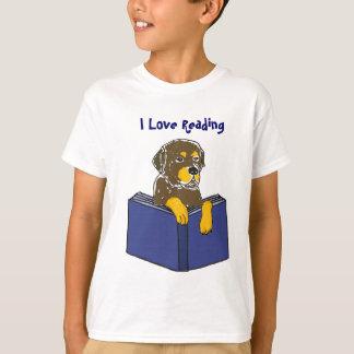 BT- I Love Reading Dog Cartoon Shirt