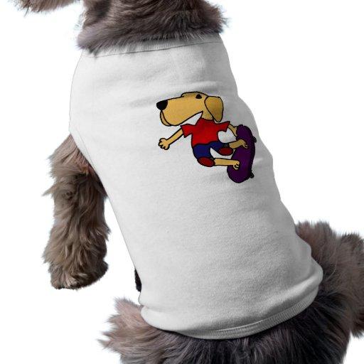 BT Skateboarding del perro del labrador retriever Camiseta De Mascota