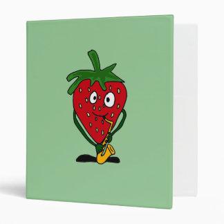 BT- Strawberry and Eggplant Music Cartoon Binders