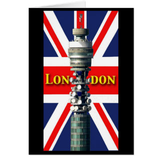 BT Tower London Greeting Card