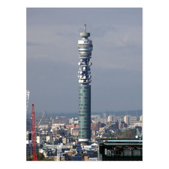 BT Tower, London, England. Postcard