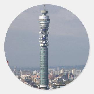 BT Tower, London, England. Round Stickers