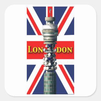 BT Tower London Square Sticker