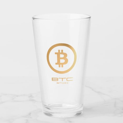BTC -Bitcoin (Gold) Glass