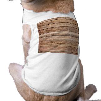 btpbwk BROWN WOOD BOARDWALK TEXTURE TEMPLATE BACKG Doggie T-shirt