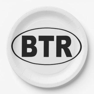 BTR Baton Rouge Louisiana Paper Plate