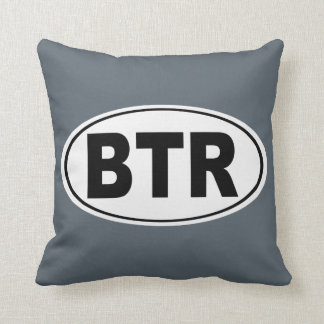 BTR Baton Rouge Louisiana Throw Pillow