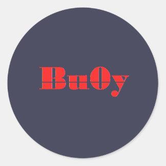 Bu0y Button Classic Round Sticker