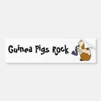 BU- Guinea Pig Playing the Saxophone Car Bumper Sticker