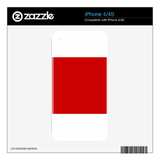 BU Red Decal For iPhone 4