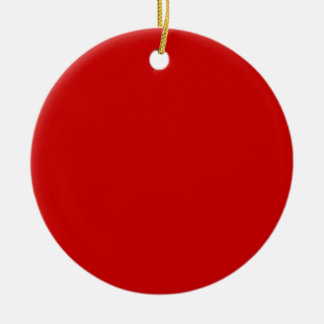 BU Red Double-Sided Ceramic Round Christmas Ornament