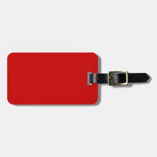 BU Red Luggage Tag
